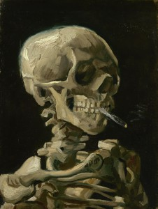 Van Gogh Skull of Skeleton with a Smoking Cigarette